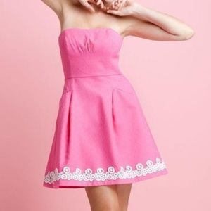 Lilly Pulitzer Blossom Dress Jacquard Hotty Pink